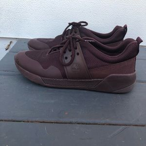 Timberland sneakers- wine color size 10